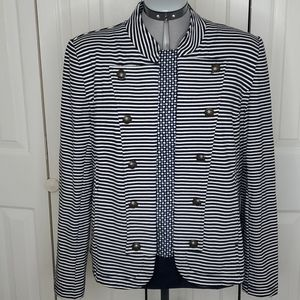 TOMMY HILFIGER Blue Striped  Cardigan Sweater